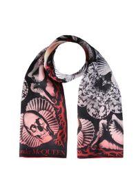 Alexander McQueen Multicolor Foulard Shells Print Scarf