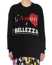 Dolce & Gabbana Black L'amore E Bellezza Sweater