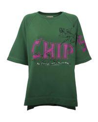 Burberry Green Fish & Chips T-shirt