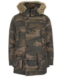 Woolrich Green Arctic Camouflage Parka for men