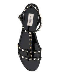 Valentino Black Valentino Garavani Garavani Rockstud Strapped Sandals