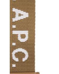 A.P.C. Brown Logo Webbed Key Ring
