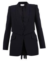 Alexander McQueen Black Layered Blazer