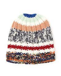 Missoni Multicolor Colour Block Chunky Knit Beanie