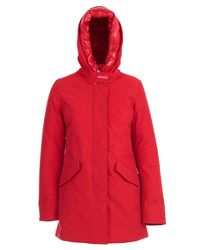 Woolrich Red Hooded Parka Coat