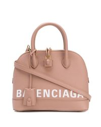 Balenciaga Pink Ville Top Handle Tote Bag