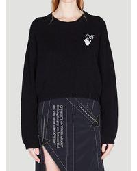 Off-White c/o Virgil Abloh Black Embroidered Knitted Jumper