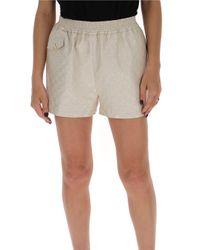 Gucci Natural GG Metallic Shorts