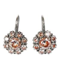 Bottega Veneta - Brown Studded Silver Earrings - Lyst