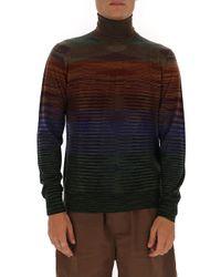 Missoni Multicolor Striped Turtleneck Jumper for men