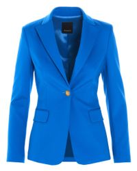 Pinko Blue Scuba Effect Single Breasted Blazer