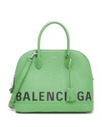 Balenciaga - Green Ville Top Handle Tote - Lyst