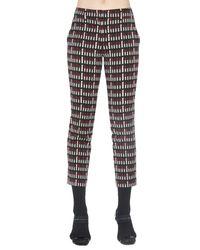 Prada Black Printed Cropped Trousers