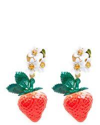 Dolce & Gabbana - Green Strawberry Earrings - Lyst