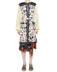 Dries Van Noten Multicolor Floral Print Wrap Jacket