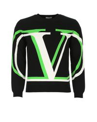 Valentino Black Vlogo Crew Neck Sweater for men