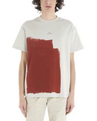 A_COLD_WALL* Red * Block Painted T-shirt for men
