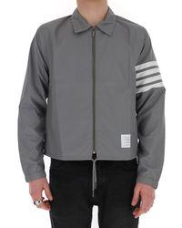 Thom Browne Gray 4 Bar Jacket for men