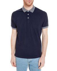 Brunello Cucinelli - Blue Polo Shirt for Men - Lyst