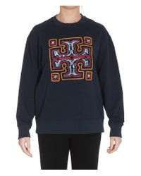 Tory Burch Blue Logo Sweatshirt