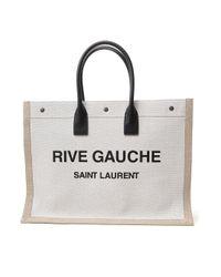Saint Laurent Natural Rive Gauche Tote Bag