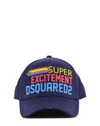 DSquared² Blue Super Excitement Baseball Cap for men