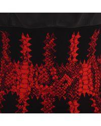 Alexander McQueen Red Leather Bra Jacquard Knit Dress