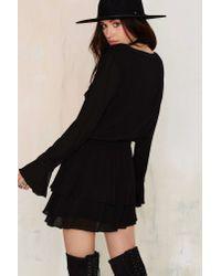 Nasty Gal | Black Real Talk Ruffle Mini Dress | Lyst