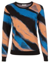 AALTO | Black Intarsia Knit Sweater | Lyst