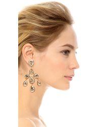 Oscar de la Renta - Metallic Floating Crystal Clip On Earrings - Lyst