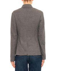 Golden Goose Deluxe Brand Gray Checked Virgin-Wool Jacket