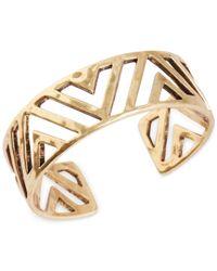 Lucky Brand Metallic Gold-Tone Arizona Cuff Bracelet