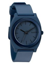 Nixon - Blue 'the Anodaze Time Teller' Watch - Lyst