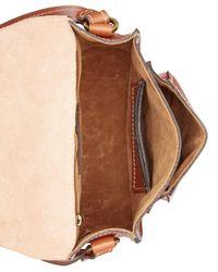 Patricia Nash Brown Argos Crossbody Saddle Bag