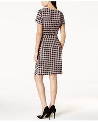 Nine West   Multicolor Printed Side-tie Dress   Lyst