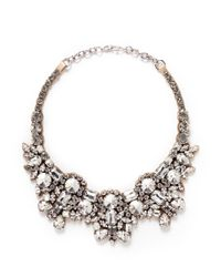 Valentino | Metallic Satin Back Strass Necklace | Lyst