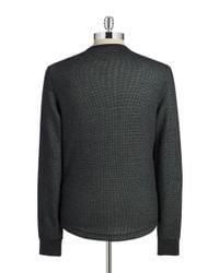 Original Penguin | Black Reversible Waffle-knit Tee for Men | Lyst