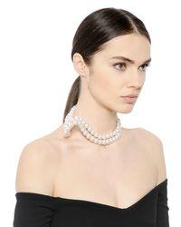 Stella McCartney | White Swarovski Pearl Necklace | Lyst