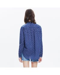 Madewell Blue X Daryl K® Ikat Shirt