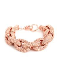 BaubleBar - Pink Original Pavé Links Bracelet - Lyst