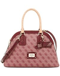 Guess Red Cheatin Heart Dome Satchel