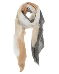 Vince Camuto - Black Space Dye Stripe Scarf - Lyst
