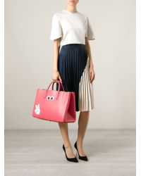 Anya Hindmarch - Pink 'Victory Maxi Featherweight Ebury' Tote - Lyst