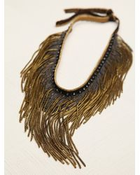 Free People | Metallic Flyaway Fringe Collar | Lyst