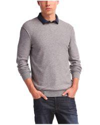 BOSS Orange - Gray Sweater 'korneli' In A Cotton Blend for Men - Lyst