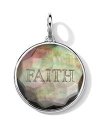 Ippolita Metallic Sterling Silver Carved Intaglio Faith Charm
