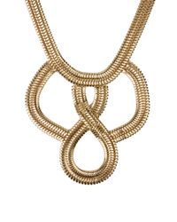 AKIRA - Metallic Woven Snake Chain Necklace - Lyst