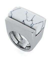 Vince Camuto - White Clearview Stone Ring - Lyst