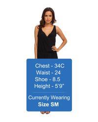 Amanda Uprichard - Black Double Crossover Dress - Lyst