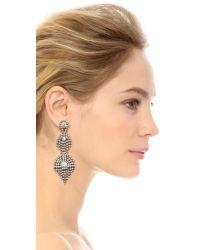 Elizabeth Cole | Metallic Cascading Crystals Earrings | Lyst